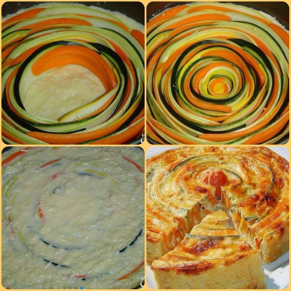 Потрясающе красивый и вкусный овощной пирог