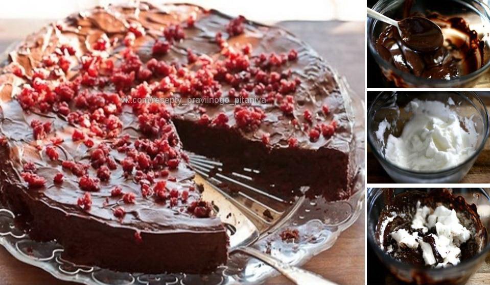 Шоколадный фитнес-торт