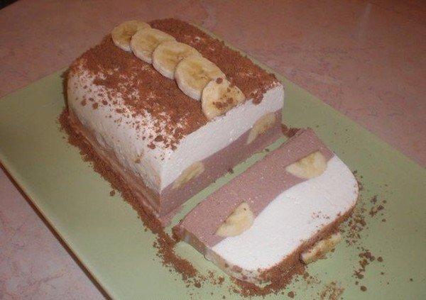 Низкокалорийный творожный десерт с бананом