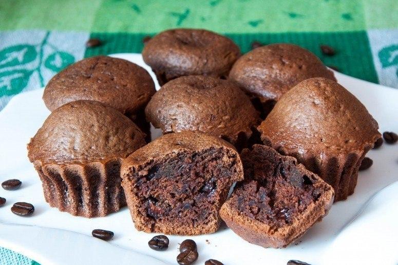 Шоколадно-кофейные кексы
