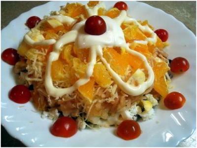 Салат с тыквой, пекинской капустой,