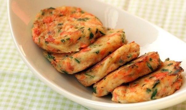 Котлетки из крабового мяса и семги